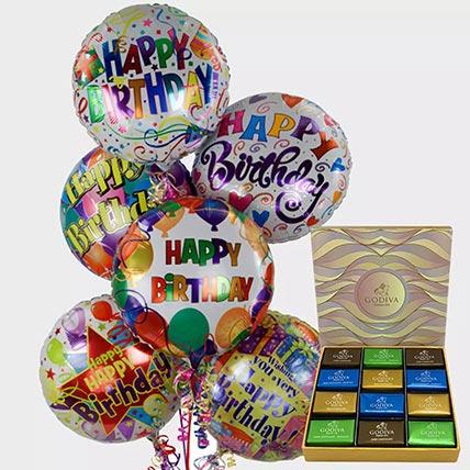 Birthday Balloons and Godiva Chocolates: Godiva Chocolate Dubai