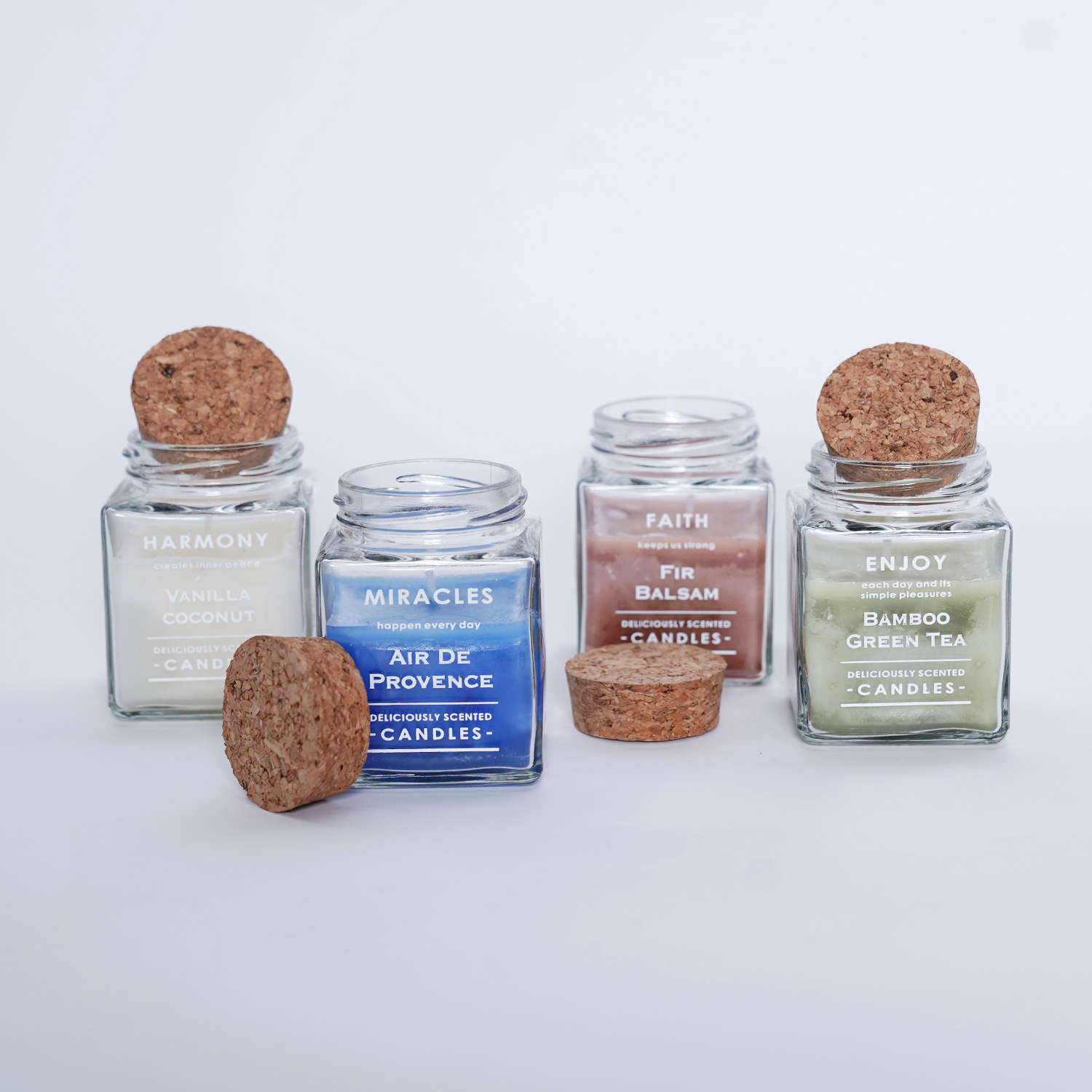 4 Aromatic Scented Candles: Candles