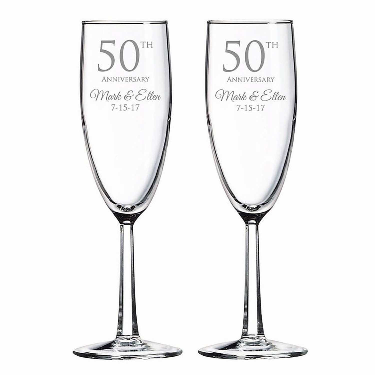 Engraved Anniversary Special Wine Glass: