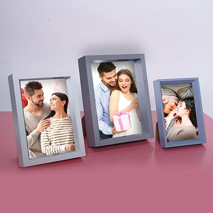 Personalised Photo Frame Set of 3: Personalised Photo Frames