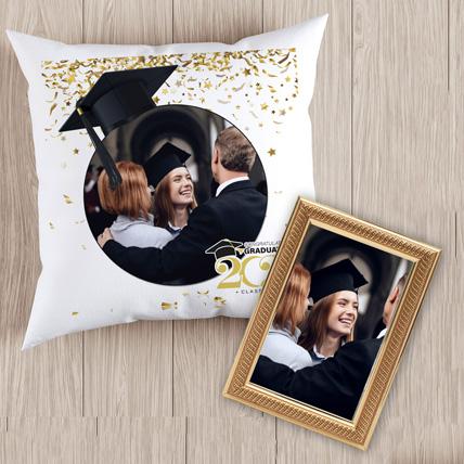 Graduation Moments Cushion With Frame: Graduation Gift Ideas
