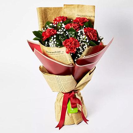 Majestic Mixed Carnations Bouquet: Carnation Flower Bouquet