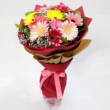 10 Gerbera Flowers Bouquet: