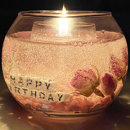 Beautiful Personalised Handmade Gel Candle: Unique Gifts Dubai