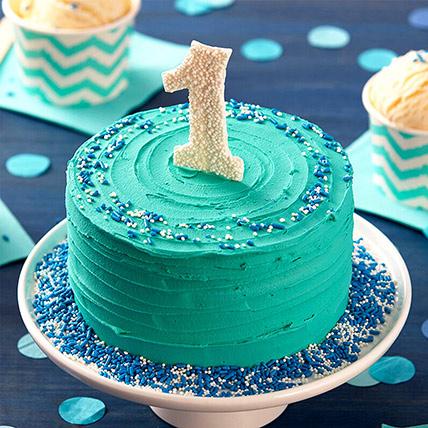 First Birthday Special Chocolate Cake: 1 year birthday cake