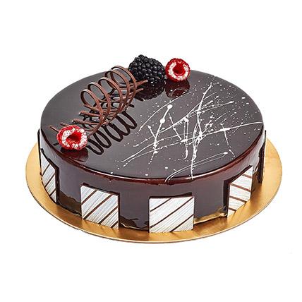 Chocolate Truffle Birthday Cake: