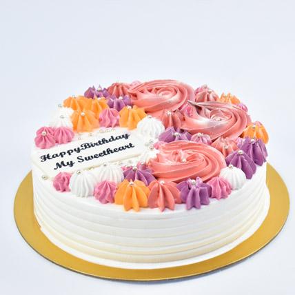 Happy Birthday My Sweetheart Cake: Designer Cakes
