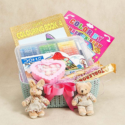 Colors and Chocolates Hamper For Kids: Birthday Gift Hampers