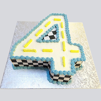Number 4 Track Theme Cake: