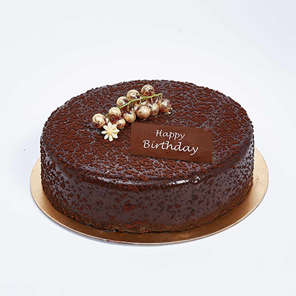Dark Chocolate Birthday Cake: Happy Birthday Cakes