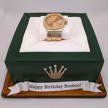 3D Rolex Watch Cake: