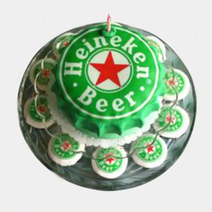 Heineken Designer Cake with Cupcakes: 3D Cakes Dubai