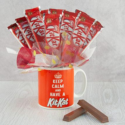 Kitkat Chocolates & Coffee Mug Hamper: