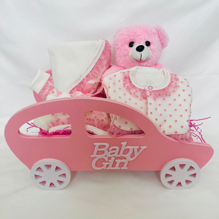 Pink Baby Girl Hamper: Baby Gifts in Dubai