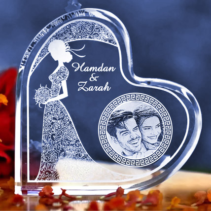 Happy Anniversary Personalised Plaque: Engraved Gifts in Dubai