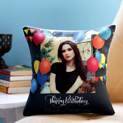 Personalised Birthday Balloons Cushion: Birthday Personalised Gifts