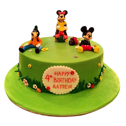 Mickey And Family Cake: 3D Cakes Dubai