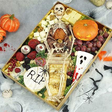 Dare To Eat Halloween Cheese Spread: Halloween Baskets