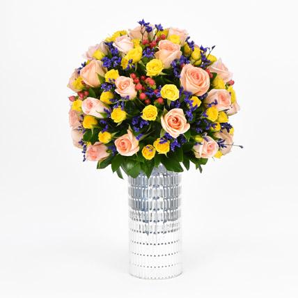 Mixed Blossoms Vase: