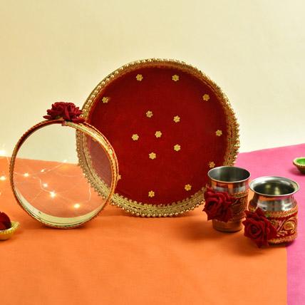 Karwachauth Complete Thali Set: Karwa Chauth Gift to Wife