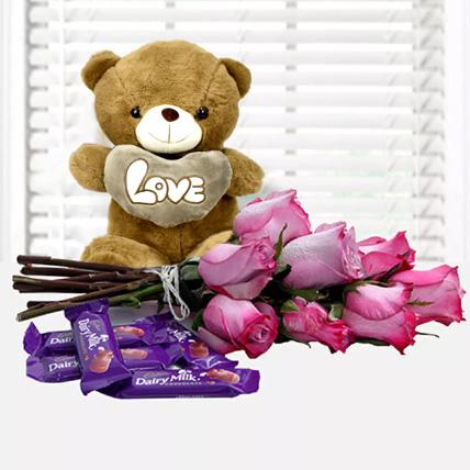 Fall in Love Again: Anniversary Flowers & Teddy Bears