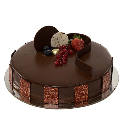 1kg Chocolate Truffle Cake LB: Send Valentines Day Gifts to Lebanon