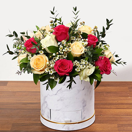 Beautiful Mixed Roses Arrangement OM: Send Gifts to Oman