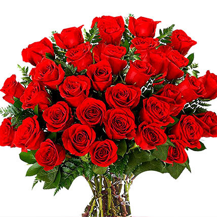 Vase Of 100 Red Roses: Send Gifts To Pakistan
