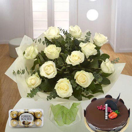 Pure Love Combo QT: Flowers N Cakes