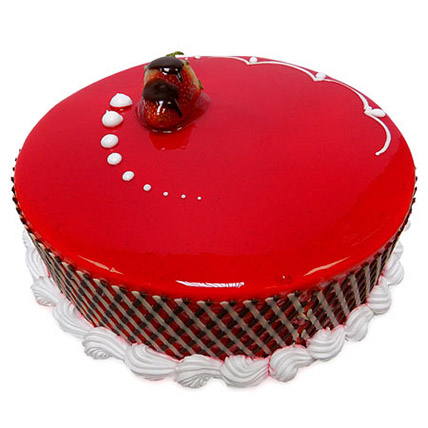 1Kg Strawberry Carnival Cake QT: Cakes to Doha