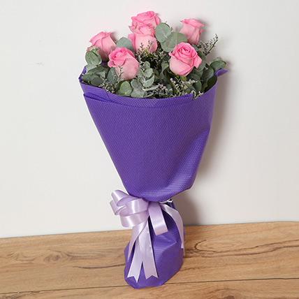 Bouquet Of Pink Roses QT: Flowers to Doha
