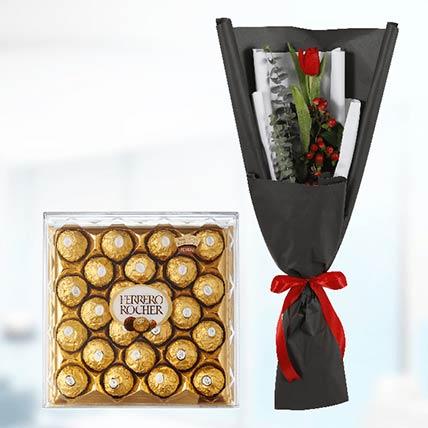 Tulip & Ferrero Rocher: Gift Delivery in Qatar