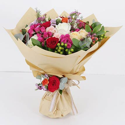 Mixed Flower Stems Bouquet: Flower Delivery Qatar