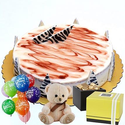 Chocolate Cake & Chocolates Combo: Send Patchi Chocolates to Qatar