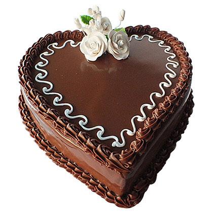 Choco Heart Cake: Cakes To Abha