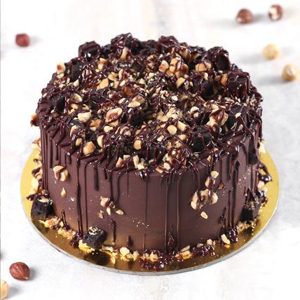 Crunchy Chocolate Hazelnut Cake Half Kg: Send Gifts to Saudi Arabia