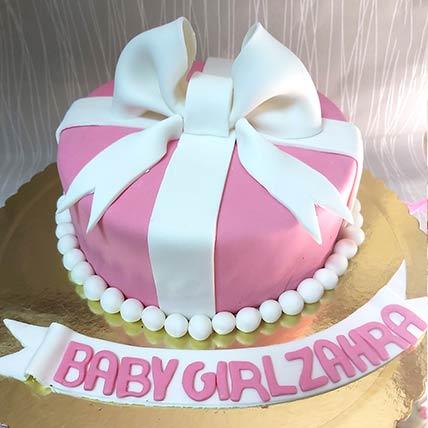 Baby Girl Gift Chocolate Cream Cake: Cakes To Dammam
