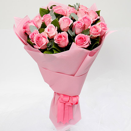 Bouquet Of 20 Pink Roses: Flowers To Medina