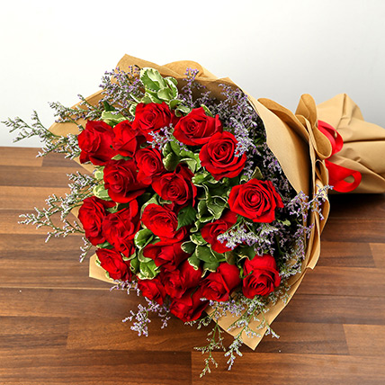 Stylish 20 Red Roses Bunch: Gifts To Al Qatif