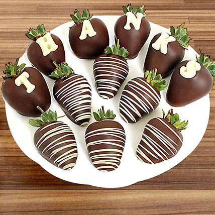 Thanks Belgian Chocolate Strawberries: Gifts To Dammam
