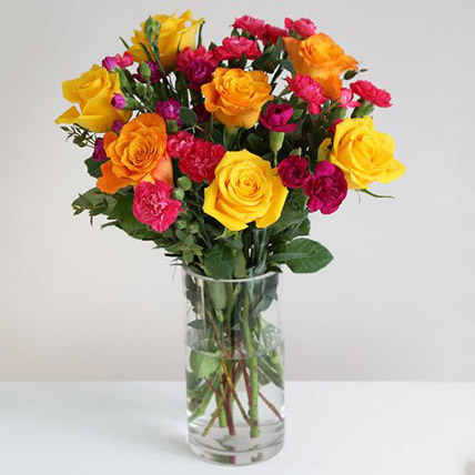 Rainbox Floral Arrangement: Send Gifts to UK