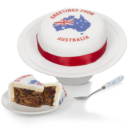 Greetings From Australia Fruit Cake: Send Cake to UK