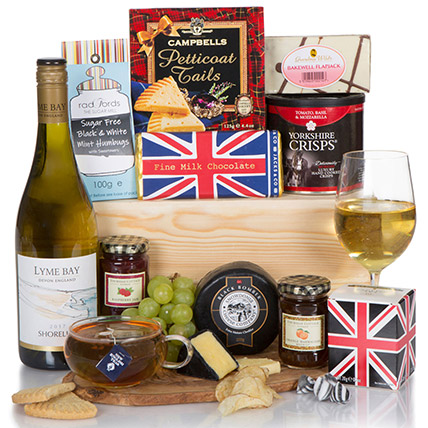 Tea And Wine Luxury Gift Box: Mothers Day Hampers UK