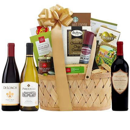 Wine Tour Gift Basket:
