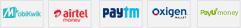 MobiKwik Airtel Paytm Oxygen PayUMoney