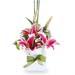 Pink Oriental Lilies Box Arrangement