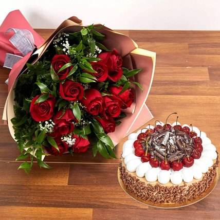 Roses & Cake for Kiss Day