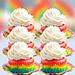 Rainbow Cupcakes 6 Pcs