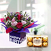 Mixed Flowers with Chocolates