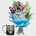 Orchids Bouquet And Personalised Mug